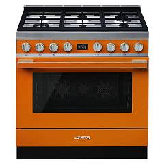 Smeg Cpf9gpor Kitchen from accosto cm. 90 x 60 - orange pyrolysis Portofino