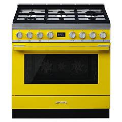 Smeg Cpf9gpyw Kitchen from accosto cm. 90 x 60 - yellow pyrolysis Portofino