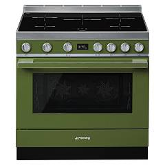 Smeg Cpf9ipog Kitchen from accosto cm. 90 x 60 - olive green induction cooktop Portofino