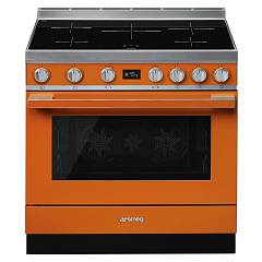 Smeg Cpf9ipor Kitchen from accosto cm. 90 x 60 - orange induction cooktop Portofino