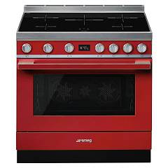 Smeg Cpf9ipr The kitchen from the docking cm. 90 x 60 - red hob induction Portofino