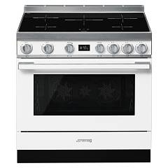 Smeg Cpf9ipwh Kitchen from accosto cm. 90 x 60 - white induction cooktop Portofino