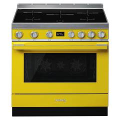 Smeg Cpf9ipyw Kitchen from accosto cm. 90 x 60 - yellow induction cooktop Portofino