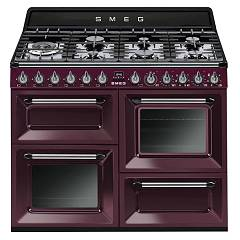 Smeg VICTORIA - TR4110RW1 The kitchen beside cm. 110 - red wine 7 burners + 3 electric ovens