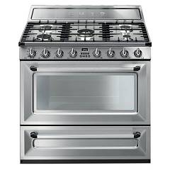 Smeg Tr90x9 Kitchen accosto cm. 90 - inox 5 fires + 1 electric oven Victoria