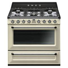 Smeg Tr90p9 Kitchen accosto cm. 90 - cream 5 burners + 1 electric oven Victoria