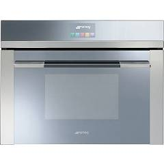 Smeg Sf4140mc Oven flush-mounted combined microwave cm. 60 - h. 45 - stainless steel Linea