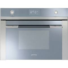 sale Smeg Oven combi steam cm. 60 h 45 - stainless steel + silver glass Sf4120vc - Linea