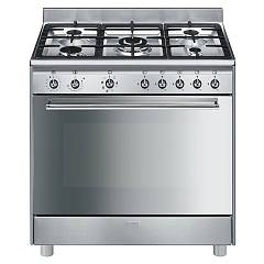 sale Smeg Sx91mf9 - Concerto The Kitchen From The Docking Cm. 90 X 60 - Stainless Steel 5 Burner + 1 Electric Oven