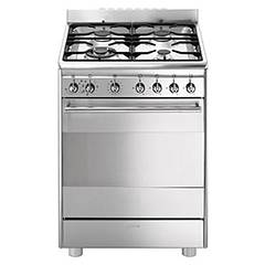 sale Smeg Cx68mf8-2 The Kitchen From The Docking Cm. 60 X 60 - Stainless Steel 4 Burner + 1 Electric Oven