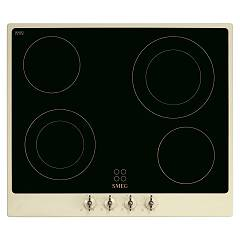 Smeg P864po Electric hob cm. 60 - black ceramic glass + certified cream for the german market Nostalgie
