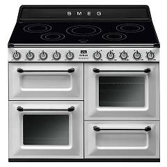 Smeg Tr4110iwh Kitchen from accosto cm. 110 white - 3 electric ovens + induction certified for the german market Victoria