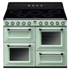 Smeg Tr4110ipg Kitchen from accosto cm. 110 green pastel - 3 electric ovens + induction certified for the german market Victoria