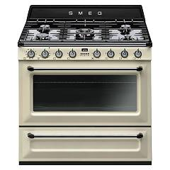 Smeg Tr90pd9 Kitchen from accosto cm. 90 cream - 1 electric oven + 5 gas fire certified for the german market Victoria