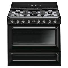 Smeg Tr90bld9 Kitchen from accosto cm. 90 black - 1 electric oven + 5 gas fire certified for the german market Victoria