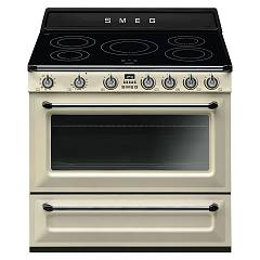 Smeg Tr90ip9 Kitchen from accosto cm. 90 cream - 1 electric oven + certified induction for the german market Victoria