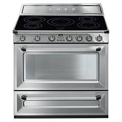 Smeg Tr90ix9 Kitchen from accosto cm. 90 inox - 1 electric oven + induction certified for the german market Victoria