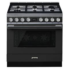 Smeg Cpf9gpand Kitchen from accosto cm. 90 anthracite - 1 electric oven + 6 gas burners certified for the german market Portofino