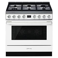 Smeg Cpf9gpwhd Kitchen from accosto cm. 90 white - 1 electric oven + 6 gas burns certified for the german market Portofino