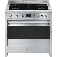 Smeg A1pyid-9 Kitchen from accosto cm. 90 inox - 1 electric oven + induction certified for the german market Opera