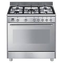 Smeg Scd90mfx9-1 The kitchen from the docking cm. 90 - stainless steel- 1 electric oven + 5 gas burners certificate for the german market Concerto