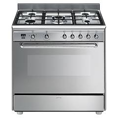 Smeg Scd90gvx9 The kitchen from the docking cm. 90 - stainless steel- 1 gas oven + 5 gas burners certificate for the german market Concerto