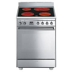 Smeg Cx68cm8 The kitchen from the docking cm. 60 stainless-steel - 1 electric oven + 4 burner electric stove certificate for the german market Concerto