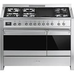 Smeg A3-81 - CLASSICA The kitchen from the docking cm. 120 x 60 - stainless steel 2 electric ovens - 5 burner + pescera + plate barbeque