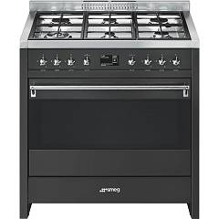 Smeg A1a-9 Kitchen from accosto cm. 90 x 60 - anthracite 1 electric oven + 6 burners Classica