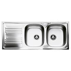 Smeg Lyp116s Built-in sink cm. 116 x 50 - inox 2 rh towers + left drainer Omni