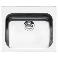 Smeg Vs50p3 Sink recessed cm. 58 x 50 - stainless steel 1 basin Alba