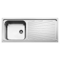 Smeg Sge116.1d Built-in sink cm. 116 - inox 1 layer left + right drawner Alba