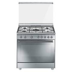Smeg Sx91sv9 Kitchen from accosto cm. 90 x 60 - inox 1 electric oven + 5 gas burns Classica