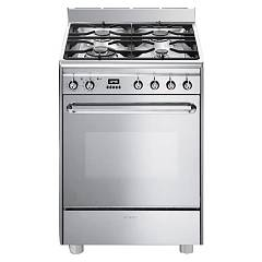 Smeg Cp60x9 Kitchen from accosto cm. 60 x 60 - inox 1 electric oven + 4 burners gas Neutra