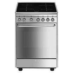 Smeg Cx60isv9 Striking kitchen cm. 60 x 60 - stainless steel 1 electric oven + 4 induction plates Neutra
