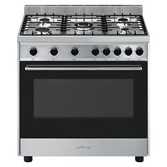 Smeg B90gmxi9 Kitchen from accosto cm. 90 x 60 - inox 1 electric oven + 5 gas burns Classica
