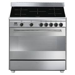 Smeg Bg91ix9 Striking kitchen cm. 90 x 60 - stainless steel 1 electric oven + 5 induction plates Classica
