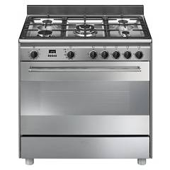 Smeg Bg91px9 Striking kitchen cm. 90 - 5 gas - stainless steel burners