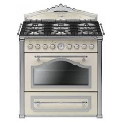 Smeg Cc9gpx Striking kitchen cm. 90 - 6 gas burners - chrome finish cream Cortina