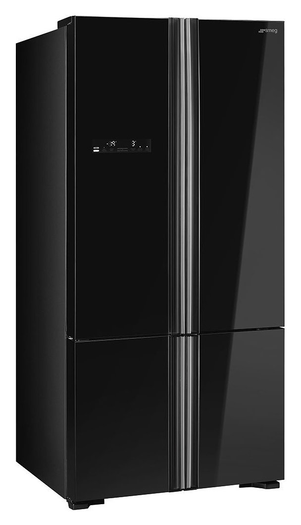 Photos 1: Smeg FQ70GBE Frigocinelatore 4 doors cm. 86 h 184 - 590 lt. - black