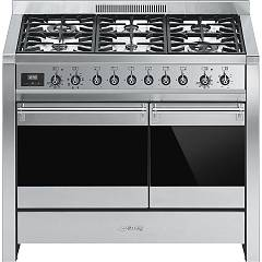Smeg A2-81 Approach kitchen cm. 100 x 60 - stainless steel 2 electric ovens + 6 gas burners Classica - Opera