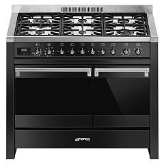 Smeg A2bl-81 Approach kitchen cm. 100 x 60 - black 2 electric ovens + 6 gas burners Classica - Opera