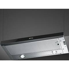 Smeg Kset66vne2 Telescopic hood cm. 60 - stainless steel / black glass Linea