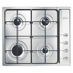 Smeg S64s Gas hob cm. 60 - 4 burners - stainless steel Selezione