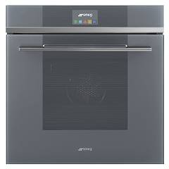 Smeg Sfp6104sts Combined steam oven cm. 60 - pyrolytic - silver glass Linea