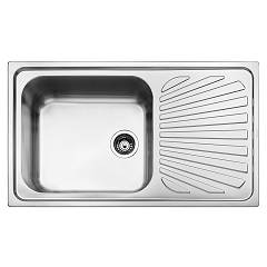 Smeg Sg861d Built-in sink cm. 86 - inox dx drainer Alba