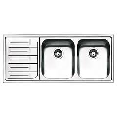Smeg Lpe116s Built-in sink cm. 116 - inox left dropped Aurora