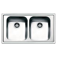 Smeg Lpe862 Built-in sink cm. 86 - inox 2 tanks Aurora