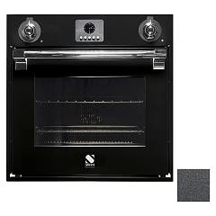 Steel Afe6-s Built-in oven cm. 60 x 60 combined steam - anthracite Ascot