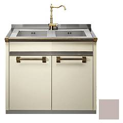 Steel A9s-l2 Sink block cm. 90 x 60 - sand 2 tanks and 2 doors Ascot